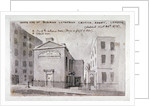 North side of the German Lutheran Church at Savoy Palace, Westminster, London by Anonymous