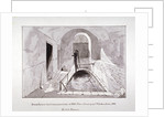 View of a brick bath or reservoir discovered in Strand Lane, Westminster, London by