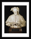 Bust of Geoffrey Chaucer, medieval English poet by George Frampton