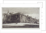 View of Newgate Prison, Old Bailey, from Newgate Street, City of London by William Monk