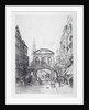View of the east side of Temple Bar, London by Alfred-Louis Brunet-Debaines