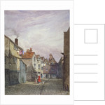 View of a woman and a child walking down Crown Court, Bermondsey, London by W Barker