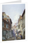 View of figures in Glean Alley, Bermondsey, London by