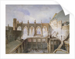 View of the destruction of St Stephen's Chapel, Palace of Westminster, London, 1834 by