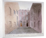 View of Marshalsea Prison on Borough High Street, Southwark, London by G Hassell