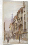 View of Wych Street, Westminster, looking east from New Inn gateway, London by John Crowther