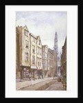 View of Drury Court, looking towards St Mary le Strand, Westminster, London by