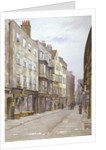 View of Hollywell Street looking west, Westminster, London by John Crowther