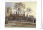 View of Butler's Almshouses, Caxton Street, Westminster, London by John Crowther