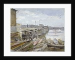 View of Battersea Bridge looking across the River Thames, London by John Crowther