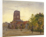 View of All Saints Church, Chelsea, London by John Crowther