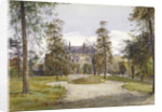 View of Stockwell Park House from the garden, Lambeth, London by John Crowther