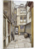 View of the court leading to the Adelphi Club, Westminster, London by John Crowther