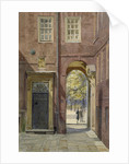 View of Elm Court, Inner Temple looking towards Middle Temple, London by John Crowther