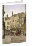 View of no 11 St Andrew's Hill and the Green Dragon Inn with a cart of barrels, London by John Crowther