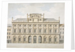 View of the north front of Somerset House in the Strand, Westminster, London by