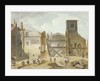 View of the demolition of the Savoy Palace, Westminster, London by