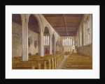 Interior view of the Chapel of St Peter ad Vincula, Tower of London, Stepney, London by