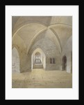 Interior view of the prison in the Bowyer Tower, Tower of London, Stepney, London by John Crowther