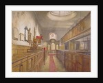 Interior of Holy Trinity, Minories, London by John Crowther