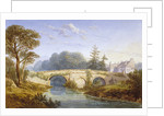 View of Eltham Bridge near Eltham Palace, Woolwich, Greenwich, London by William Crouch
