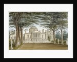 Front view of Chiswick House, Chiswick, Hounslow, London by John Chessell Buckler