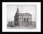 South-west view of the Swedish Church, Prince's Square, Stepney, London by Benjamin Cole