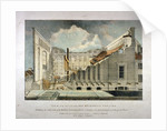 Ruins of the Brunswick Theatre, Wellclose Square, Goodman's Fields, Stepney, London by