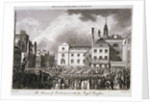 King George III processing through Old Palace Yard, Westminster, London by JR Thompson