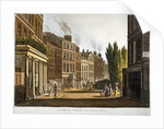 View of Leicester Square from Leicester Place with figures, London by Anonymous