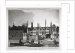 Buildings on the eastern side of New Palace Yard, Palace of Westminster, London by William Fellows