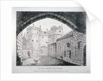 View of the 'old' gateway to the Tower of London by Anonymous