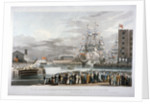 The opening of St Katharine's Dock, London by E Duncan