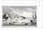 View near Limehouse Bridge, London, looking down the River Thames by