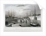 View of London Docks looking west, Wapping by MJ Starling