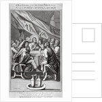 Representation of an altarpiece in the Church of St Mary, Whitechapel, London by