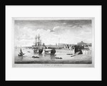 View of boats on the River Thames near Woolwich, Kent by