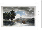 View of Windsor from the River Thames, Berkshire by J Bluck