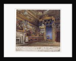 Interior view of the King's Audience Chamber in Windsor Castle, Berkshire by