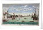 View of the Tower of London with boats on the River Thames by John Boydell