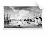 View of the Tower of London with boats and passengers on the River Thames by John Boydell