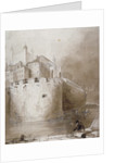 View of the Tower of London from the moat by Anonymous