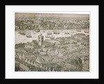 View of the Tower of London from the south with boats on the River Thames by Anonymous