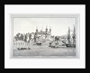 South view of the Tower of London with boats on the River Thames by