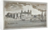 View the Tower of London from the River Thames with boats on the river by