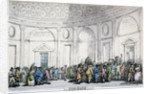 Interior view of the Bank of England, City of London by Thomas Rowlandson