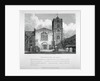 View of St Bartholomew-the-Great from the churchyard, City of London by W Preston