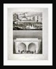 Two views of the Thames Tunnel, commemorating the visit by Queen Victoria, London by T Brandon