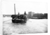 Dumpy barge on the Thames loaded with hay or esparto, London by Anonymous