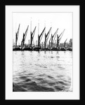 Topsail barges at anchor on the Thames, some with topsails lowered, London by Anonymous